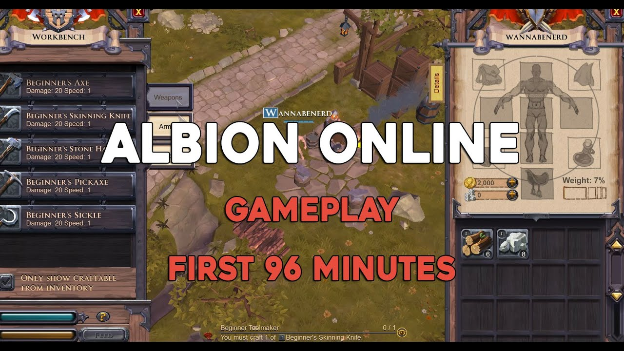 Albion Online: Gameplay First 96 minutes