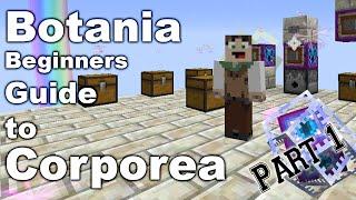 Botania | Corporea part 1 | Basics of Corporea | Requesting Items | Tutorial
