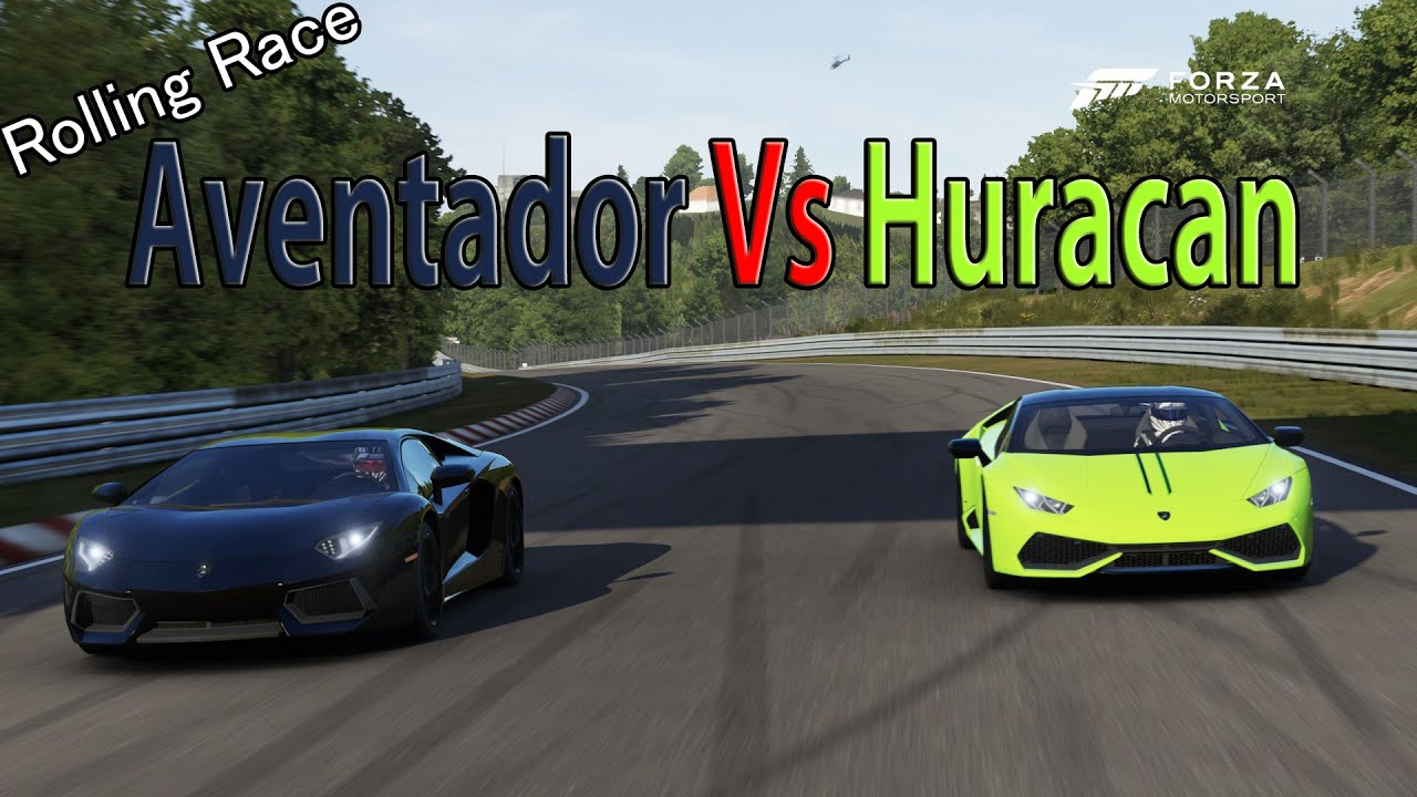 forza motorsport 6 drag race lamborghini huracan vs lamborghini aventador. Black Bedroom Furniture Sets. Home Design Ideas