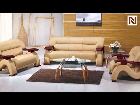 Contemporary Leather Sofa Set In Beige Color Vgev2033 2