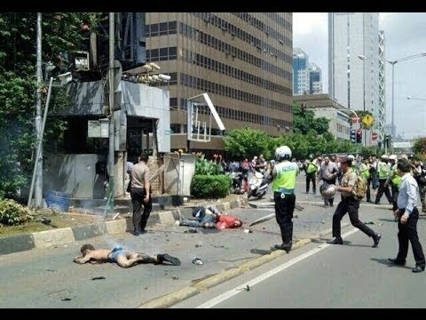Amateur video Suicide Bomb in Thamrin, Jakarta