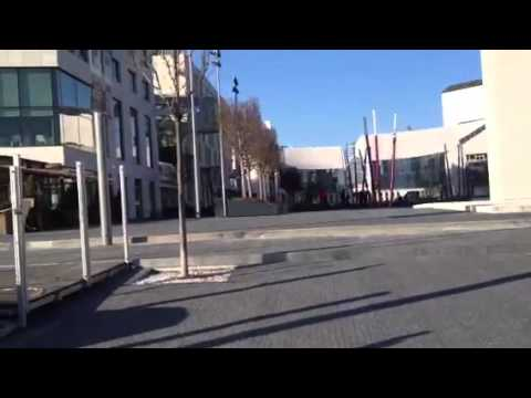Bratislava shopping center eurova. Duna river