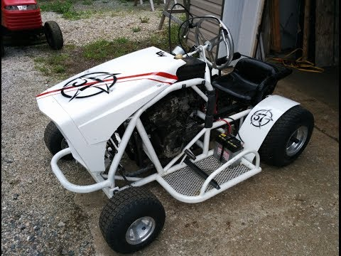 Lawn Mower Racing >> Racing mower | go kart : First test and tune, did OK for a