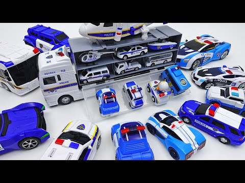 Thumbnail: Police Car Carrier and Police Vehicle Toys Collection~!