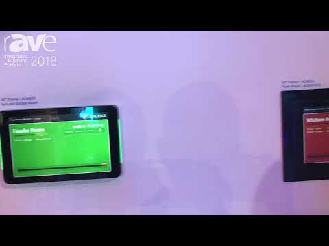 ISE 2018: Concierge Displays Explains ACMG10 Room Booking System With NFC Reader For Added Security