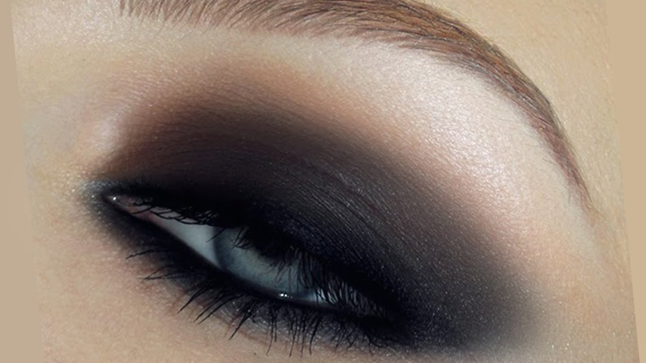 simple fast smokey eyes makeup tutorial - youtube