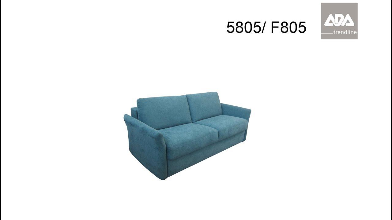 Schlafsofa 5805/ F805 - ADA trendline Bettfunktion - YouTube