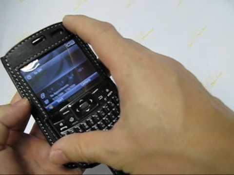 PDair Leather Case for Samsung Jack SGH-i637 - Flip Type (Black)