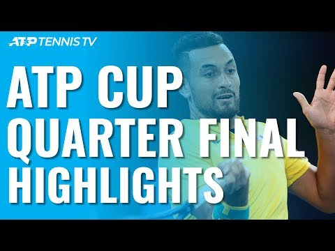 Kyrgios Leads Australia To Dramatic Win; Russia Also Into Semis | ATP Cup 2020 Highlights Day 8