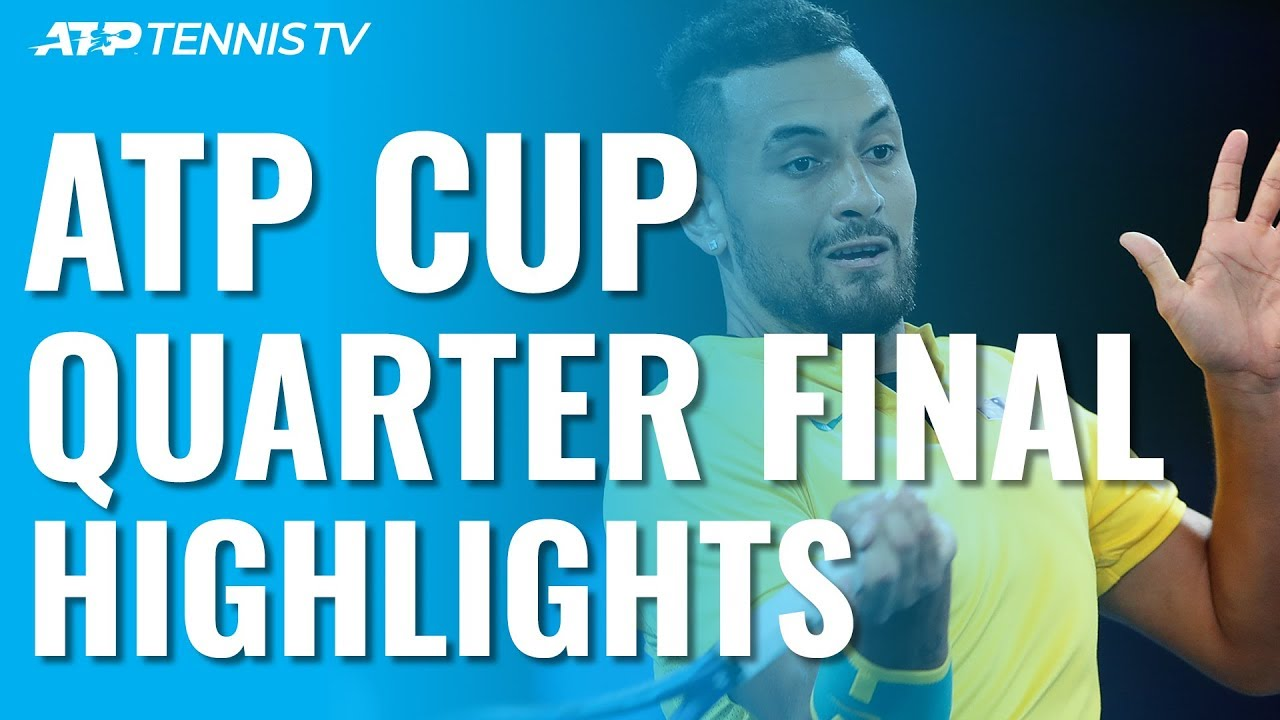 Kyrgios Leads Australia To Dramatic Win Russia Also Into Semis Atp Cup 2020 Highlights Day 8