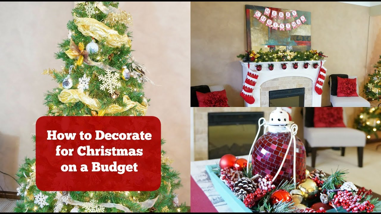 how to decorate for christmas from the dollar store
