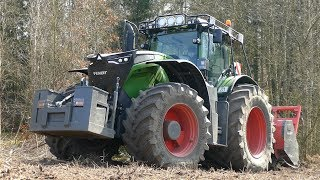 Fendt 1050 Vario Working Hard in The Forest w/ AHWI M700 Mulcher | Crushing Wood | Danish Agri