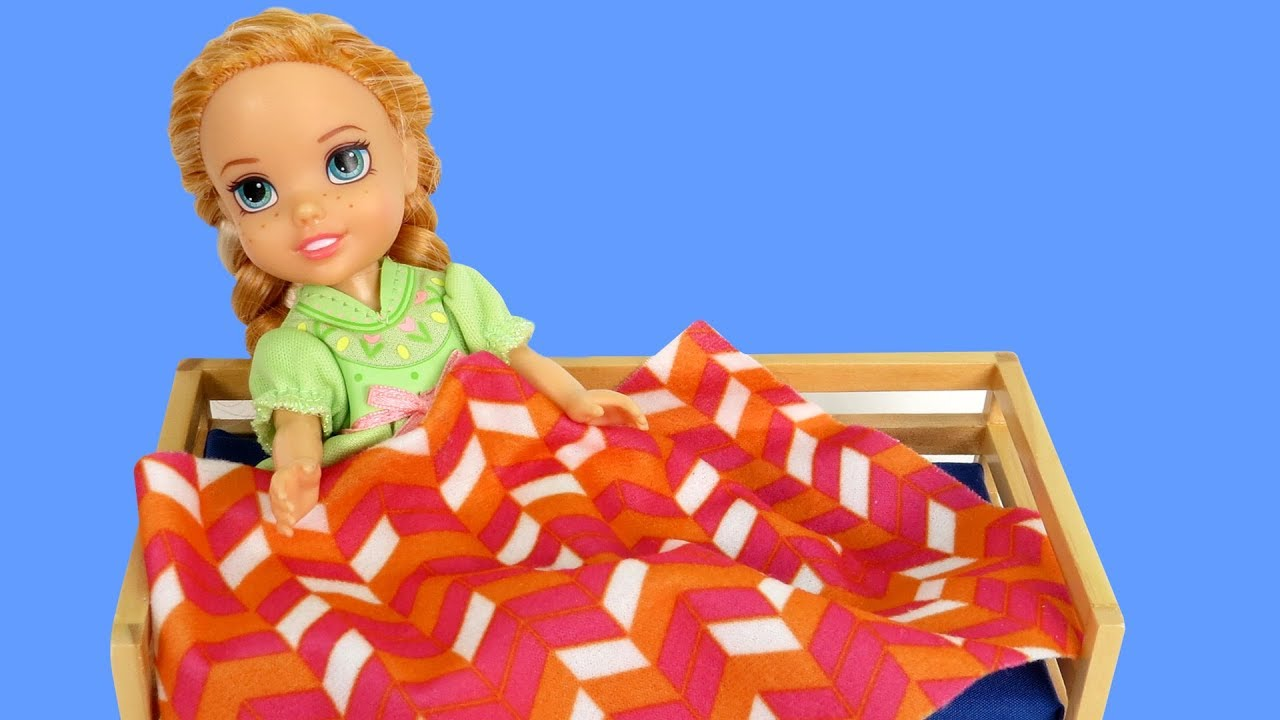 Pretend Sick ! Elsa and Anna toddlers morning routine on a school day