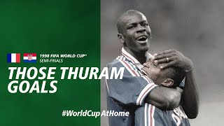Those Thuram Goals France v Croatia France 1998