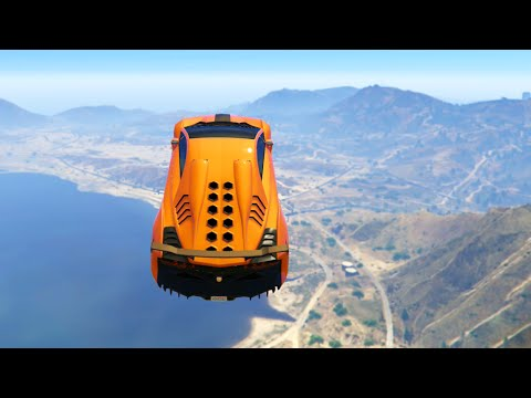 GTA 5 Xbox One - Extreme Car Stunting Race (GTA 5 Funny Moments)