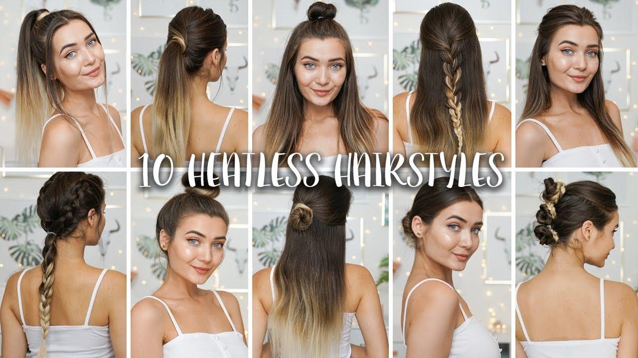 10 easy heatless back to school hairstyles!