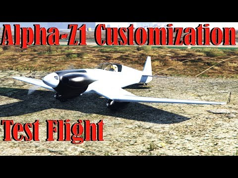 Gta 5 Online   Alpha - Z1 - Smuggler Run DLC - Customization And Test Flight