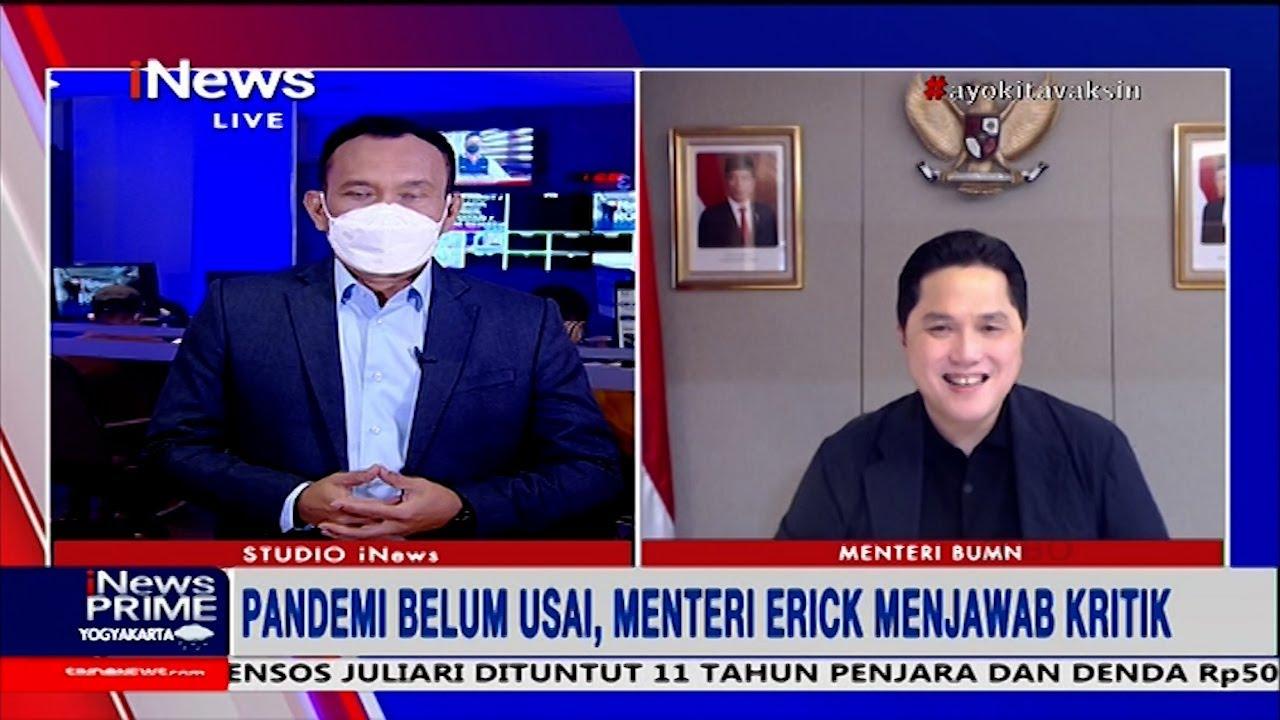 Menteri BUMN Erick Thohir: Pemerintah Tingkatkan Persediaan Obat #iNews Prime 28/07