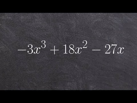How to factor out a GCF from a polynomial to then completely factor