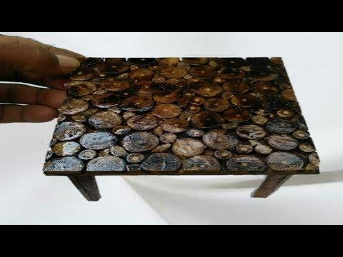 Cara membuat meja dari ranting kayu