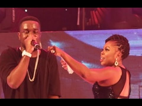 Afia Schwarzenegger spray money on Sarkodie @ TGMN '15 | GhanaMusic.com Video