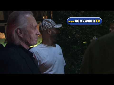 David Carradine Leaves Mr Chow. (Obama)