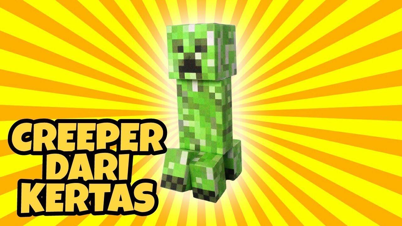 Cara Membuat Mainan Minecraft Creeper Dari Kertas Alsa Honggo Youtube
