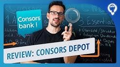 Consorsbank Depot im Check - Kostenlos Besparbare ETFs