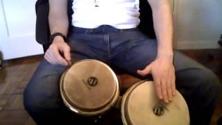 How to Play Bongos - Bongo Lesson 2 (Basic Tones) - Nate Torres