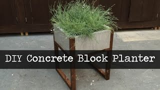 Modern Concrete Paver Planter DIY Tutorial