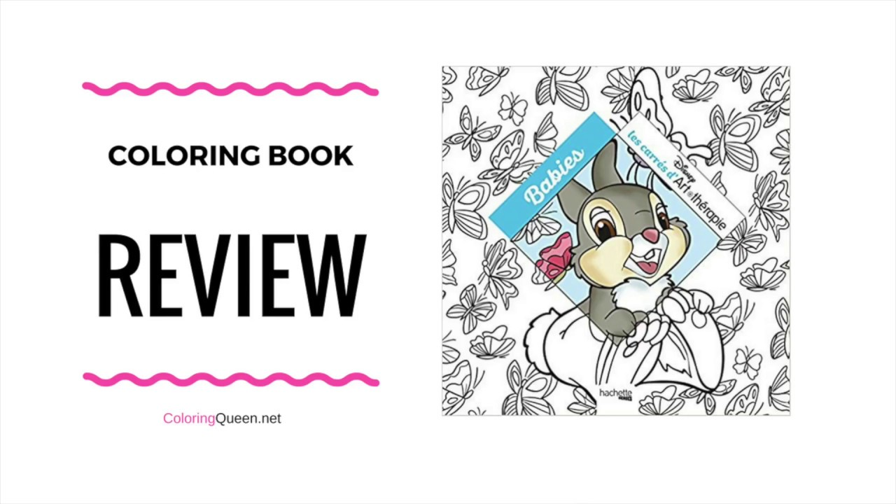 Disney Babies French Coloring Book Review - YouTube