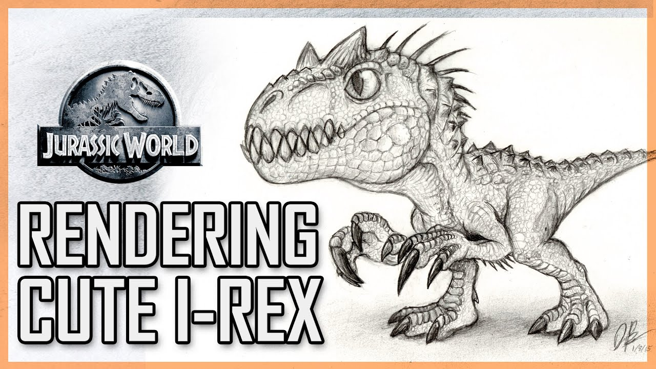 How to draw indominus rex scales jurassic world youtube - Rendering And Scaling Cute Cartoon Indominus Rex Jurassic World Youtube
