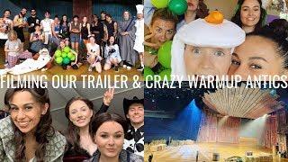 FILMING THE TRAILER AND HILARIOUS WARMUP ANTICS | OKLAVLOGMA | Georgie Ashford