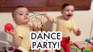 Our Twin Baby Girls Dancing to McBaby Monday! /// McHusbands