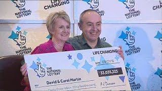 Scottish couple become £33 million National Lottery winners