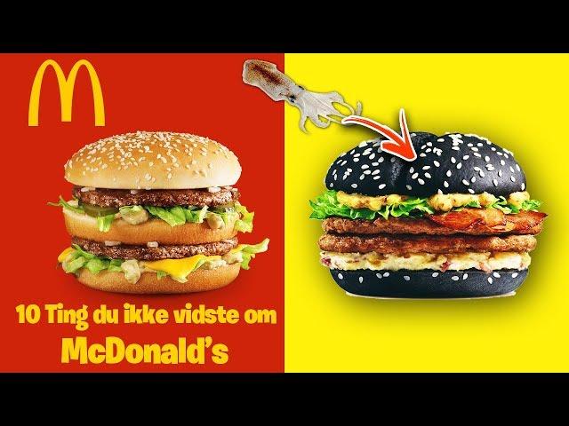 10 Ting du ikke vidste om McDonald's 🍔