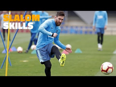 Training with a difference for the Barça squad