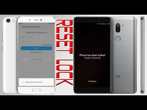Xiaomi Mi5/Mi5s Remove Password Unlock Pattern Bypass Mi account All Xiaomi