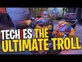 Techies the Ultimate Troll - DotA 2 Funny Moments