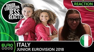 ITALY: Melissa and Marco - 'What Is Love' (REACTION) | Junior Eurovision 2018