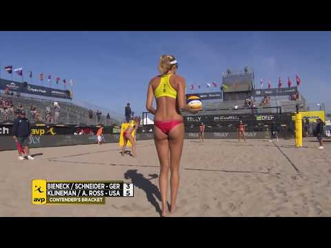 2018 FIVB Huntington Beach Open: Bieneck/Schneider vs Klineman/Ross