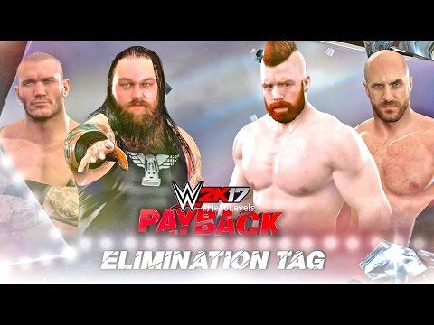 WWE 2K17 Bray Wyatt Randy Orton vs Sheamus Cesaro | Elimination Tag Team Match PS4 Gameplay