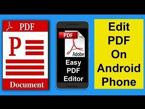 मोबाईल पर Pdf फ़ाइल Edit करने का सबसे आसान तरीका ,   How To Edit File On Mobile