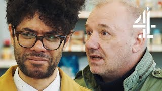 """Richard Ayoade: """"Mate, Where's the Toilets?"""" Trying Expired Goods with Bob Mortimer 
