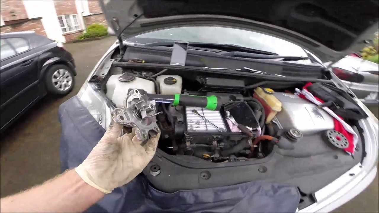 toyota prius 1 5 hybryd engine water pump replacement youtube. Black Bedroom Furniture Sets. Home Design Ideas