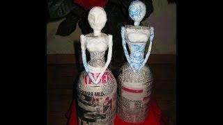DIY Заготовка для куклы. Папье-маше \ How to make doll \ Papier-mache