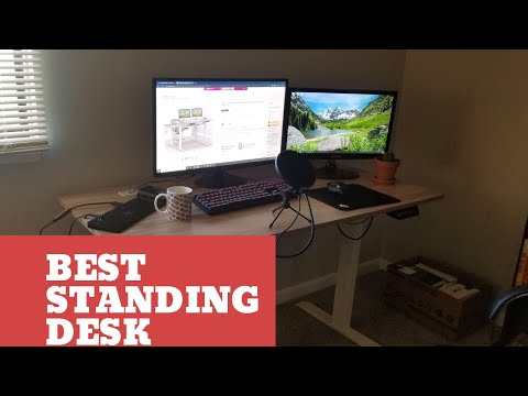 The Best Standing Desk You Can Buy!?!?! - SHW 55-Inch Large Electric Height Adjustable Computer Desk