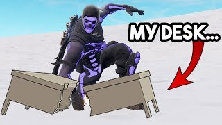 this game of Fortnite made me BREAK my Desk!! (RAGE)