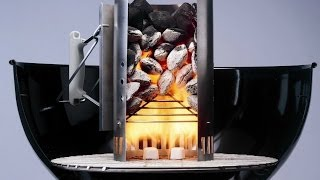 How To Start Your Weber Charcoal Grill - How To Light A Barbecue - Chimney Fire Starter