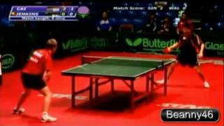 Cai Xiao Li Vs Stephen Jenkins (2009 Commonwealth Table Tennis Championships)